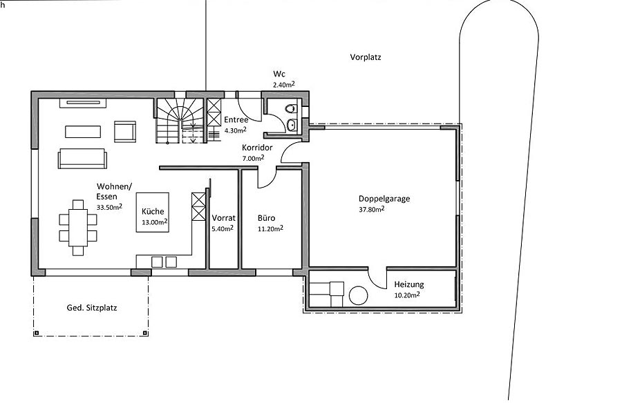 Grundriss Mit Doppelgarage – Modernes Haus